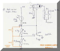 "'59 schematic. See text for new revisions about ""orange"" resistors."